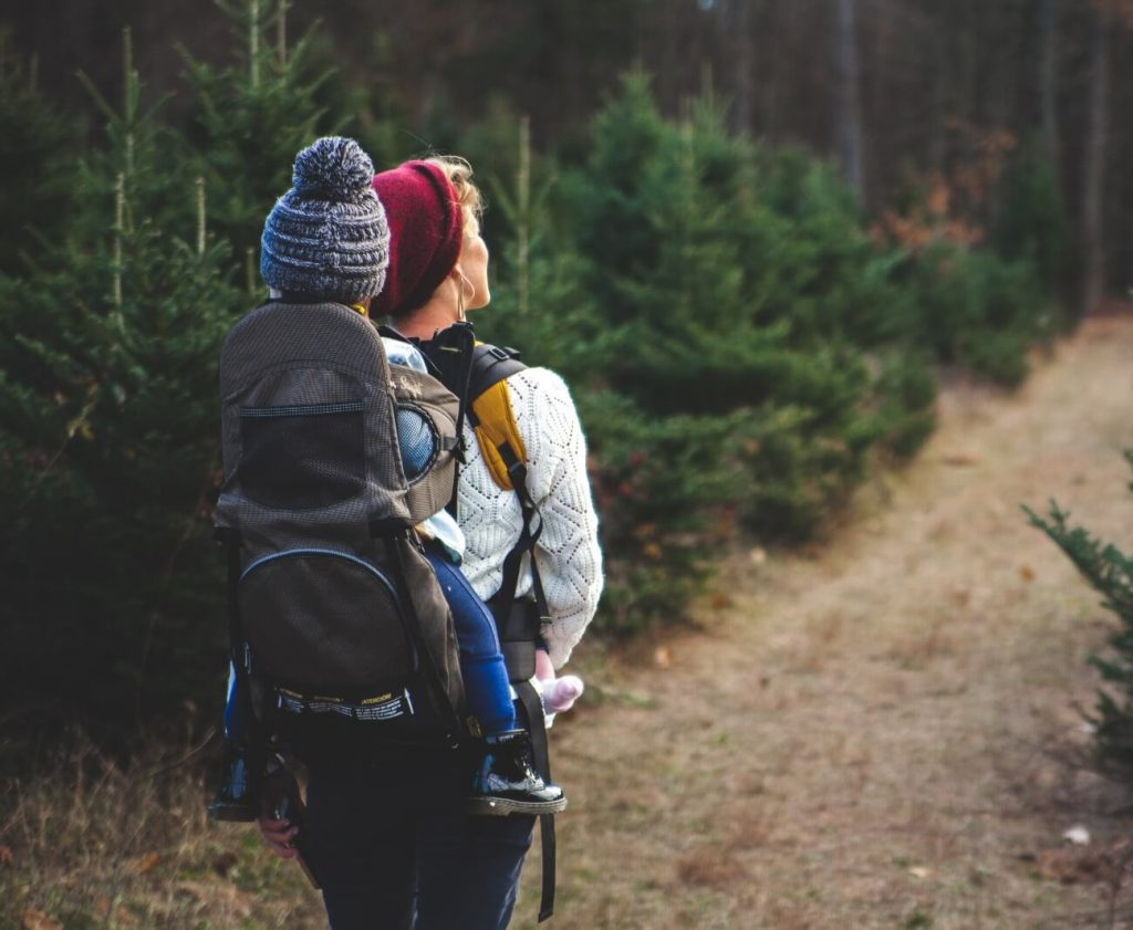 Image-Of-Winter-Hiking-With-Baby